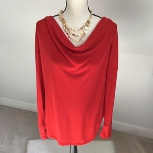 ❤️A.NA. Red Drape Neck Top Size XL